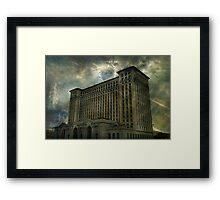 Detroit, Michigan Central Station Framed Print