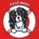 Tricolor Cavalier CKCS :: First Mate by offleashart