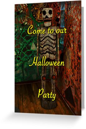 Halloween Party Invitation - Skeleton by MotherNature