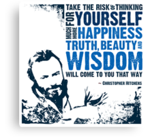 Christopher Hitchens: Think For Yourself Canvas Print