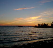 lake simcoe sunset by john best