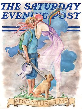 Adventure Time! Rockwell Post Cover Parody by Jesse Rubenfeld