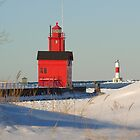 Big Red Lighthouse by Ted Schlosser
