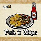 Fish 'n' Chips (Print Version) by Rodrigo Marckezini