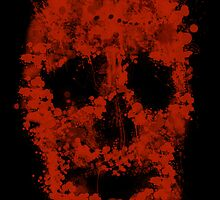 Splatter Skull (red of black) by Bela-Manson