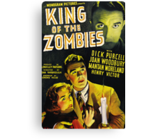 King of Zombies - Classic B-Movie Canvas Print