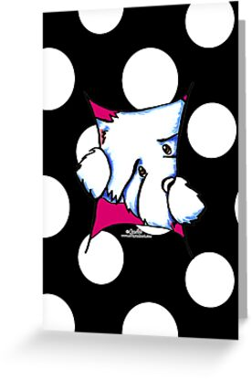 Westie Inside Fun Polka Dots Any Occasion by offleashart