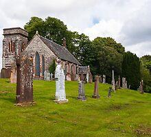 Building, Church, Corsock, Dumfriesshire, Scotland by Hugh McKean
