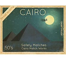 Cairo Safety Matches  Photographic Print