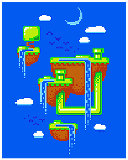 PIXEL ISLANDS by DREWWISE