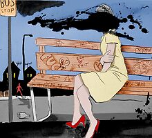 bus stop by Loui  Jover