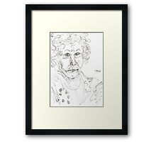 Miss Marple Sketch II Framed Print