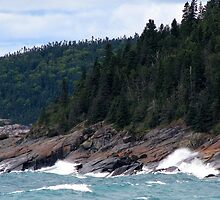 Lake Superior Coastline by Laura Lea Comeau