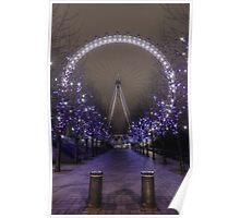 London Eye by night Poster