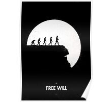 99 steps of progress - Free will Poster