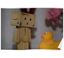 Danbo and the duck... Who do you think is more scared? Poster