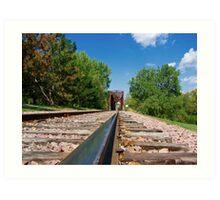 Lonesome Rails Art Print