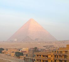 Sunrise over Giza Pyramids by Citisurfer