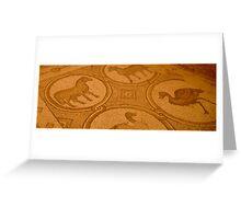 Mosaics in Petra Greeting Card