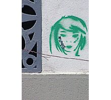 Zombie Girl Stencil Graffiti, Florence, Italy Photographic Print
