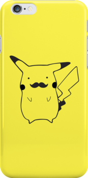 Moustache Pikachu by Dean Lord