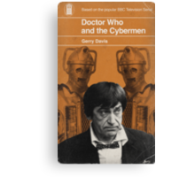 Doctor Who and the Cybermen - Penguin style Canvas Print