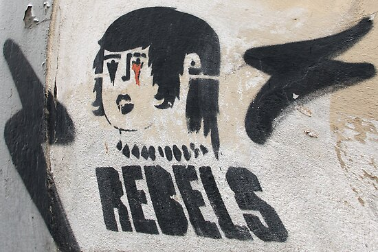Italian Rebel Boy Graffiti by simpsonvisuals
