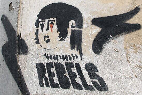 Italian Rebel Boy Graffiti by simpsonvisuals