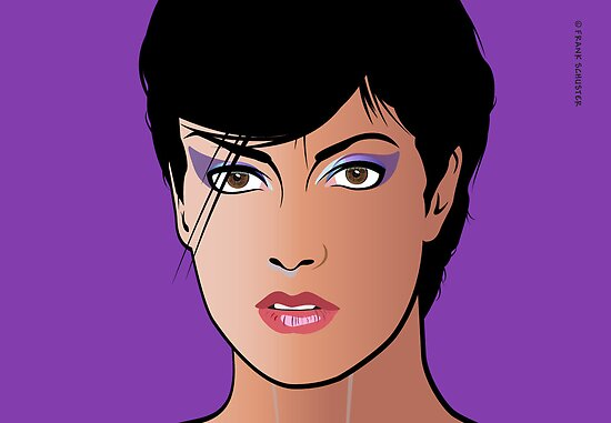 Pop Art Illustration of Girl  Sonja by Frank Schuster