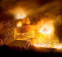 Night Blast at Crazy Horse Memorial by Alex Preiss