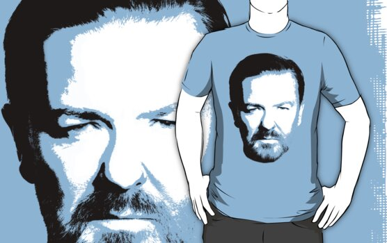 Gervais t-shirt print high contrast by portiswood