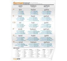 Learn German - Common German Verbs Poster