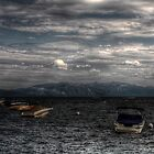 Tahoe Lake from Tahoe City by Wooanna