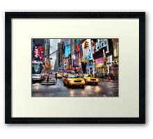 Times Square Tilt & Shift Framed Print