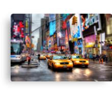 Times Square Tilt & Shift Canvas Print