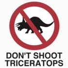Don't Shoot Triceratops by ixrid
