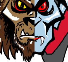 Wolfman vs Dracula Sticker