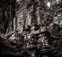 Face of the ruin, Ta Som, Angkor by hangingpixels