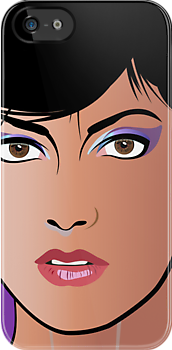Pop Art Illustration of Beautiful Woman Sonja by Frank Schuster