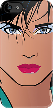 Pop Art Illustration of Beautiful Woman Veronica by Frank Schuster