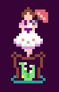 8-bit Haunted Mansion Ally Girl by Tiffany Bailey