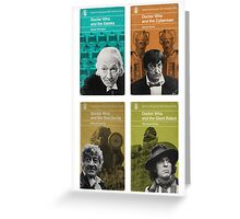 Doctor Who novels Penguin style Greeting Card