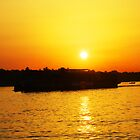 Nile River at Sunset by Siegeworks .