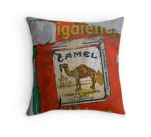 Camel - Old Advertisement Throw Pillow