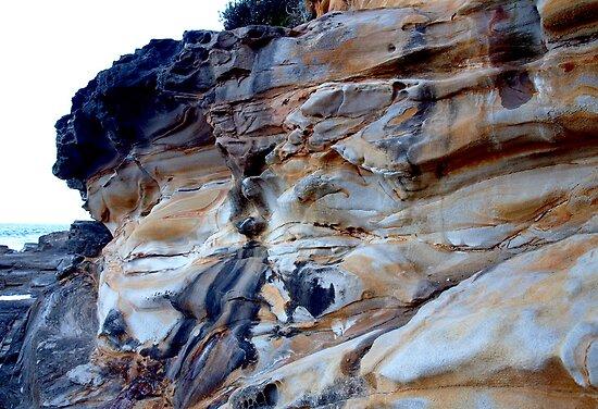 Sandstone Cliffs II by geophotographic