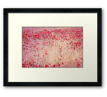 fields of poppies Framed Print