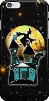 Witch's Condo for Halloween iPhone case by Dennis Melling