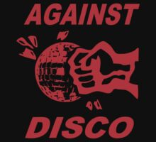 Against Disco (red print) by Bela-Manson