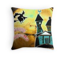 Happy Halloween from the Witch's Condo Throw Pillow