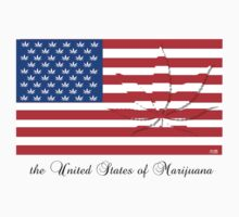 United states of Marijuana - shadow leaf by mouseman